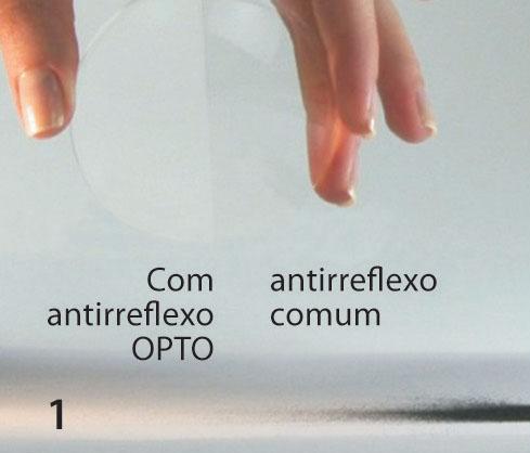 A camada anti-estática dos tratamentos Opto neutraliza as cargas elétricas criadas no ato da limpeza das lentes (eletricidade estática), não permitindo que partículas de pó sejam atraídas pela sua superfície e mantém a lente mais limpa por mais tempo.