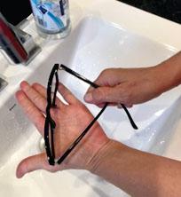 OPTO Divisão Antirreflexo - Limpeza de lentes